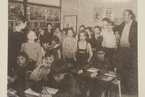 Tienjarig bestaan van OBS de Zilverzwaan in 1984